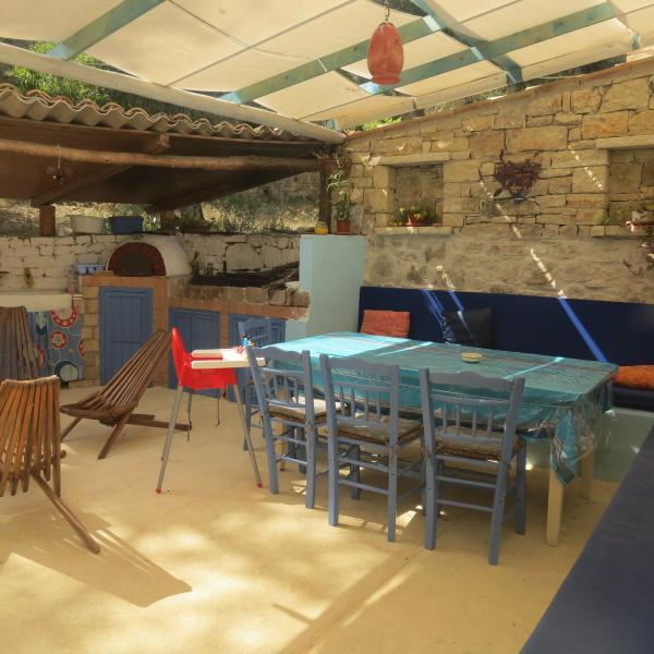 Outdoor space - Nikolaki Stone Cottage in Paxos island - Loggos - rentals