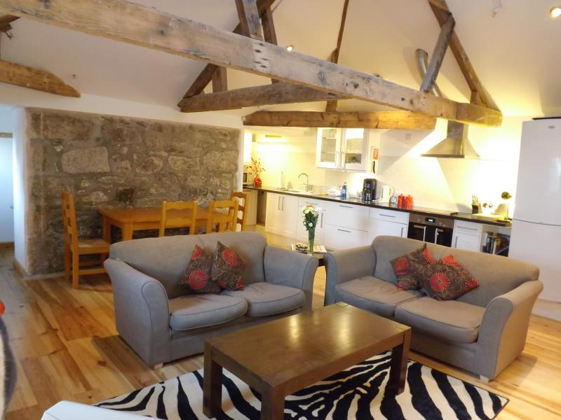 Very spacious open plan comfortable apartment. Original beamed ceiling . - Luxury Apartment 'Sunny Corner' Penzance Cornwall - Penzance - rentals