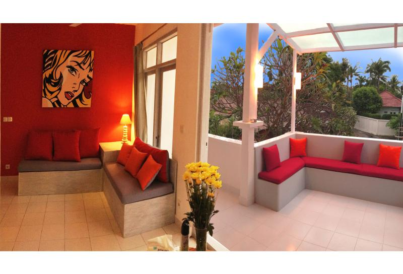 living room / terrace ! - BALiPOP Apartment 2br SEMINYAK 300m from the beach - Seminyak - rentals