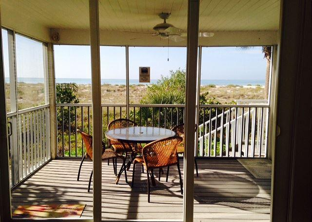 View from the Porch - Beach & Gulf Villa at Palm Island Resort with All Resort Amenities - Cape Haze - rentals