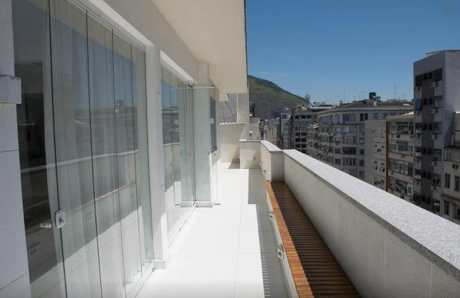 terrace 180 degrees, frontal sea view - PENTHOUSE HEART OF BEACHS COPACABANA - IPANEMA - Rio de Janeiro - rentals