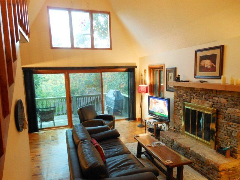 Living Room with Views of Grandfather Mountain - Cloud Seven - Seven Devils - rentals