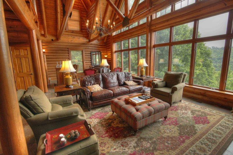 Comfortable Elegance, Great Room with Wall of Windows - Seaforth - Blowing Rock - rentals