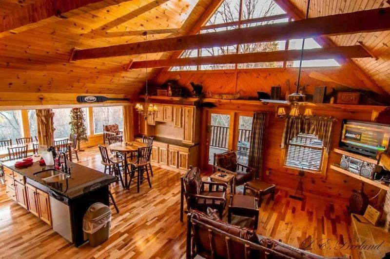 view from the loft down below - JUST VIEW-TI-FUL! - Sevierville - rentals