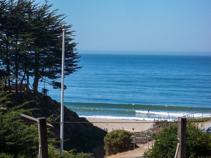 Actual Whitewater and Sand View from Living Room - Almost Ocean Front, Hot Tub, Sand & Whitewater View - Santa Cruz - rentals