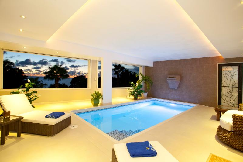 Indoor Pool with water fall - Villa Marbella - Sint Maarten - rentals