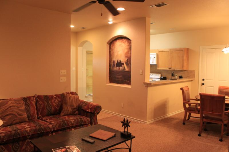 Living Room - Flying L Guest Ranch A Side Water Park Suites - Bandera - rentals