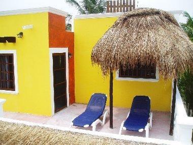 beachfront terrace - Hacienda   ,  El Cuyo Beach Condo - El Cuyo - rentals
