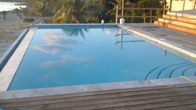 Salt water infinity pool off of back deck - Luxury house on laid back Eleuthera - South Palmetto Point - rentals
