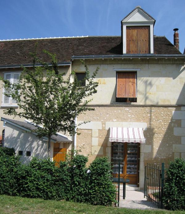 Comfortable stone house seen from the Loir River - Cozy Village House on the Loir River - Troo - rentals