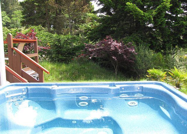 J&R HIDEAWAY CHALET - SOAK IN THE TUB - J & R Hideaway Chalet~Hot Tub, Ocean View, Walk to Town, Park Boat or Trailer - Trinidad - rentals