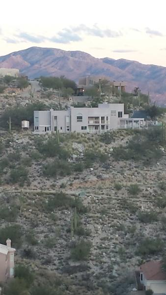 View of home from neighboring ridge - Tucson Hill Top Estate - Tucson - rentals
