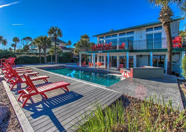 Exterior - 9 Driftwood-Oceanfront  w/  Large 15 x 34 Pool - Hilton Head - rentals