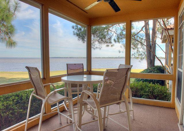 "Bay View from Patio - Stay at ""BAY WATCH'"" for Spring Break!  Bay & Golf Course Views! Sleeps 10! - Sandestin - rentals"