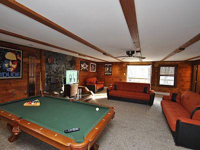 The Game Room with Pool, PS3, 50' Flatscreen and Deck Access - Grand Summit Lodge - Tannersville - rentals