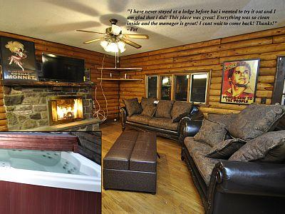 Rock Lodge Main Room and Hot Tub Deck - Lodge at Red Rock - Tannersville - rentals