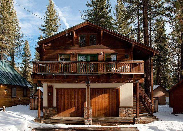 Front Exterior - Agatam Retreat - Hot Tub, Fireplace & Gourmet Kitchen - Easy Walk to Beach!! - Tahoe Vista - rentals