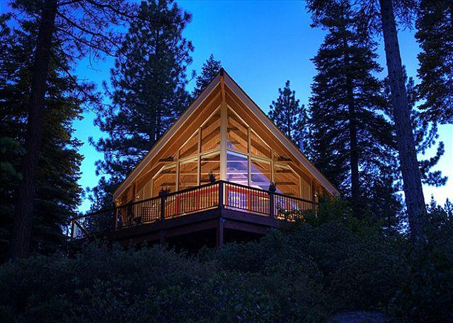 Rear Exterior - Old County Lake View 3BR with Hot Tub & Lake View - Gorgeous NEW Remodel! - Carnelian Bay - rentals