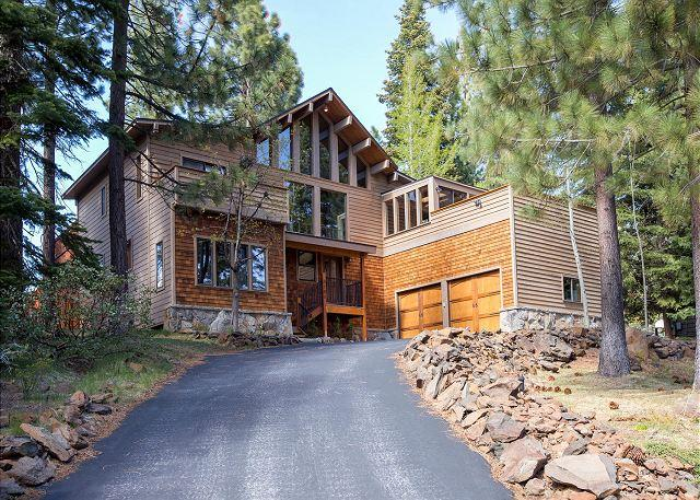 Front Exterior - Sunny 4 BR Tahoe City Home with Gorgeous Yard, Hot Tub, & Pet-friendly - Tahoe City - rentals