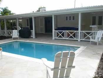 Patio and Pool - Julielm House, Worthing, Christ Church, Barbados - Worthing - rentals