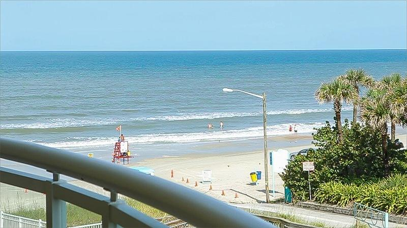 View from balcony - New! Beautiful Views of the Beach, South Facing Sleeps 6 - Daytona Beach - rentals