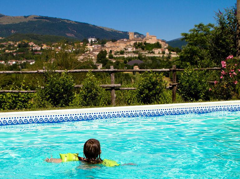 Sarnano from the pool - Stunning Villa & view 1k to great medieval village - Sarnano - rentals