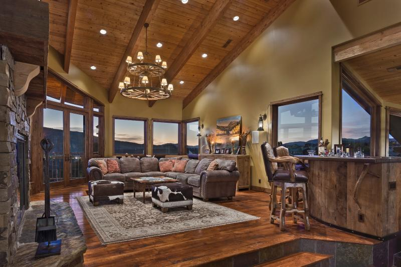 Winter Castle lounging area for royalty - Winter Castle - 6BR Home + Private Hot Tub - Steamboat Springs - rentals