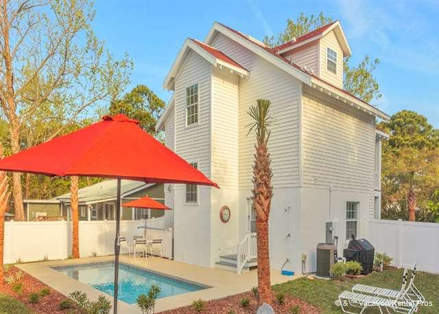 Moody Blue Pool House has ample outdoor seating for all 10 guest - Moody Blue Beach House with Private Pool and balconies - Palm Coast - rentals
