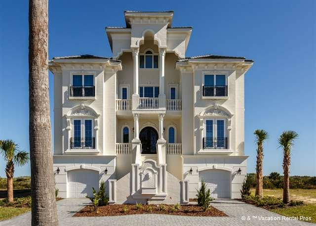 Sea Princess is a 10 bedroom, ocean front mansion with pool. - Sea Princess Castle, 10 bedroom beach front, pool, spa, elevator - Palm Coast - rentals