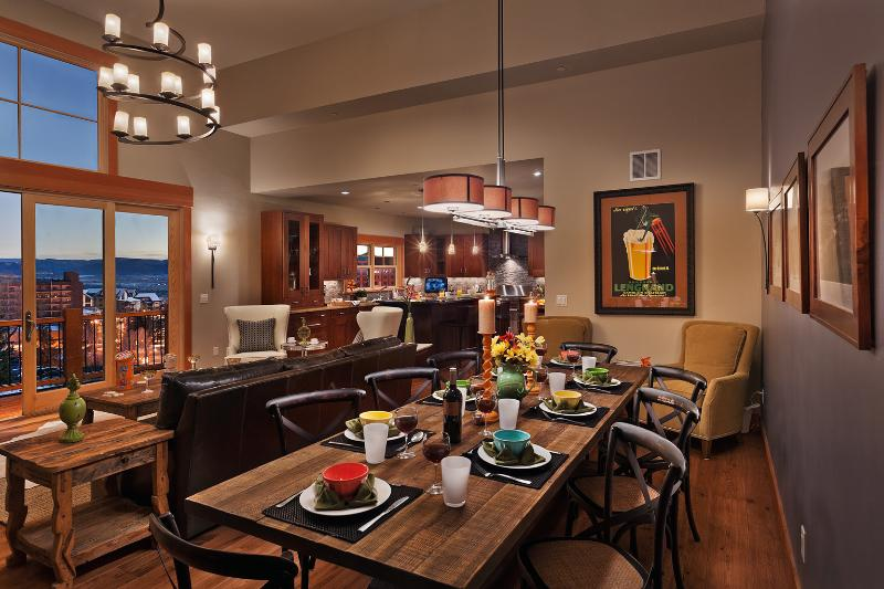 Dining table: seats 10 - Sunshine Peak Chalet - Steamboat Springs - rentals