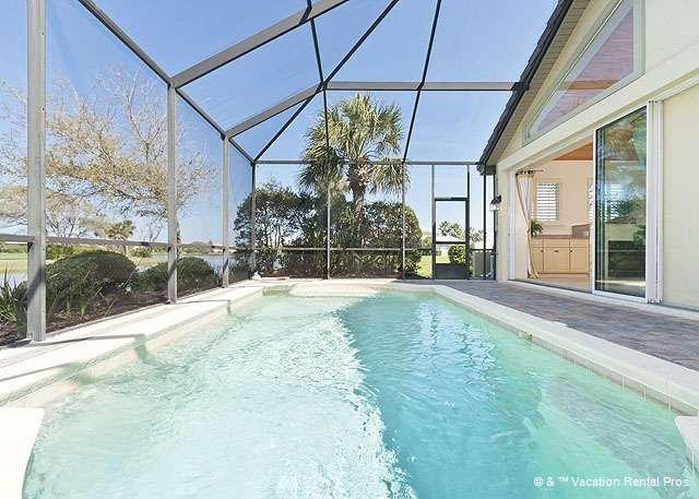 Kingfisher - Swim in our private heated pool - KingFisher Home, Private Heated Pool Screen Lanai, new HDTVs - Palm Coast - rentals