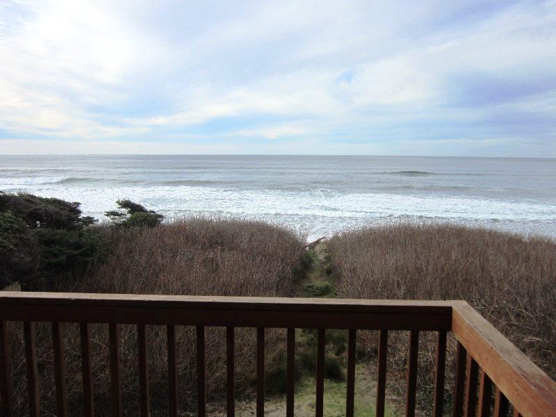 Oceanfront Oasis - Ocean View From Deck - OCEANFRONT OASIS - Lincoln Beach, Depoe Bay - Depoe Bay - rentals