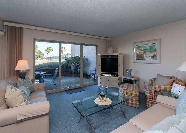Main Living Area - 1746 Bluff Villas - Beautiful views. Quick walk to South Beach Marina Area. - Hilton Head - rentals