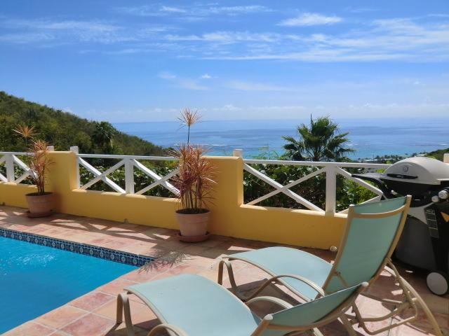 Enjoyable private pool deck with views - Affordable Villa with Private Pool - Sun Kissed! - Teague Bay - rentals