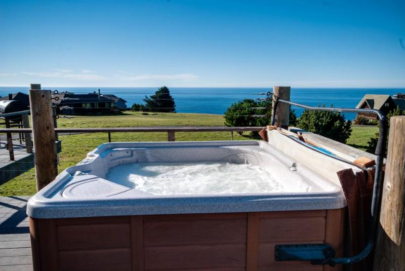 Enjoy private hot tub & spectacular ocean views in this dog-friendly home! - Image 1 - Albion - rentals