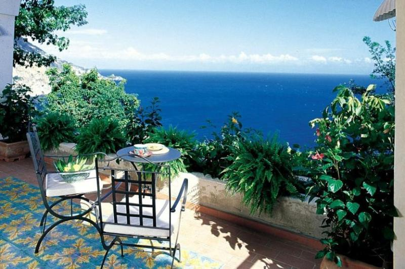 View of the sitting area on the terrace in Villa Praiano - Villa Praiano - Praiano - rentals