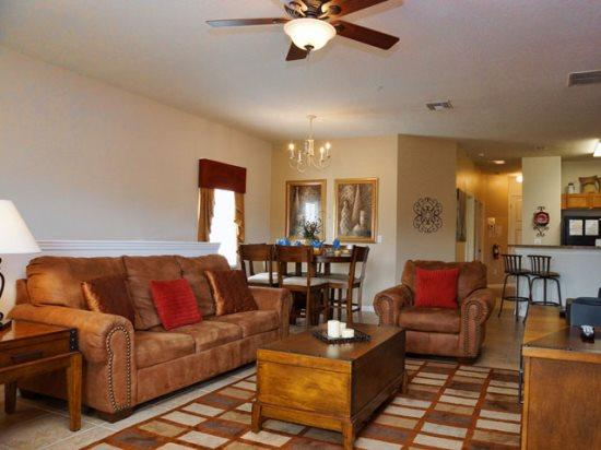 Living Area - OW3C2825OD Delightful Condo Home in Oakwater Kissimmee - Orlando - rentals