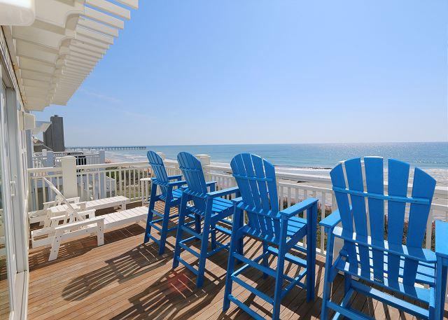 Oceanfront deck - C Street B - Incredible Ocean Front Condo in the heart of Wrightsville Beach - Wrightsville Beach - rentals