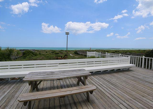 Oceanfront deck - Clark -  Relax and enjoy unobstructed ocean views from this classic beach home - Wrightsville Beach - rentals