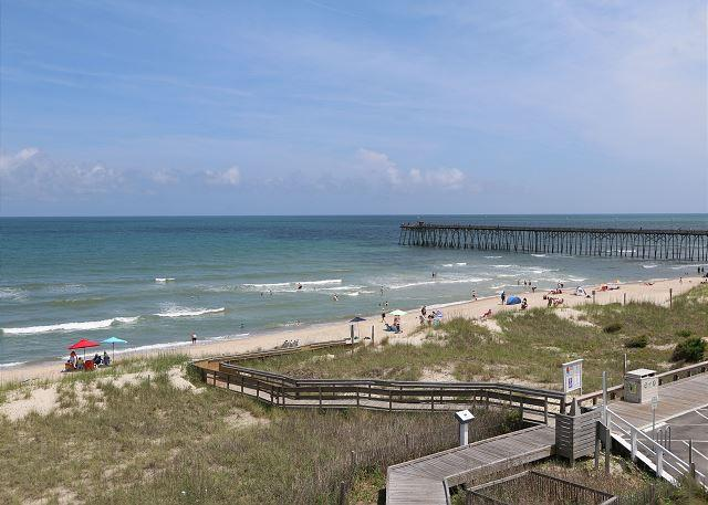View - KB Villa C7 -  Oceanfront condo with large decks and panoramic water views - Kure Beach - rentals