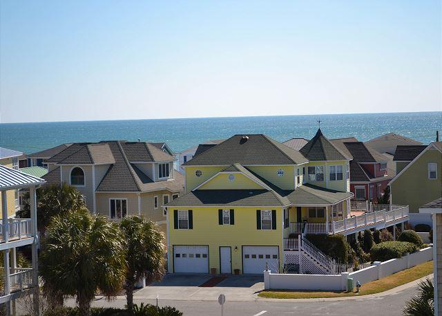 Water views - Summer Winds -  Nicely appointed ocean view home with community beach access - Kure Beach - rentals