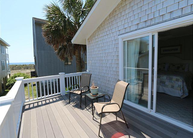 Back Deck - Shore Fun -  Comfortable and cozy ocean view cottage with easy beach access - Wrightsville Beach - rentals