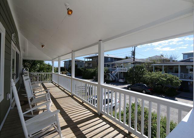 Spears- Ocean view duplex with spacious porches, a short walk to the ocean - Image 1 - Wrightsville Beach - rentals