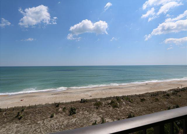 View from the oceanfront balcony - Station One - 6D DeWall-Oceanfront condo with community pool, tennis, beach - Wrightsville Beach - rentals