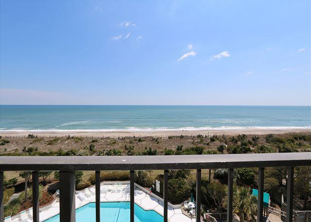 View From Ocean Front Balcony - Station One - 5I Farrior-Oceanfront condo with community pool, tennis, beach - Wrightsville Beach - rentals