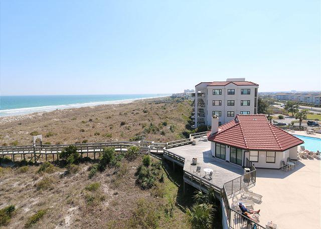 Pool - DR 2106 -  Relax at this comfortable oceanfront condo with pool and tennis - Wrightsville Beach - rentals
