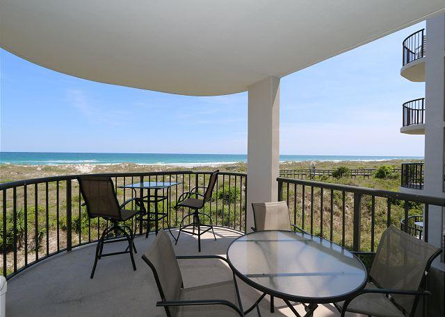 Covered Deck - DR 2202 - 3 BR 3 Bath oceanfront condo at the desirable Duneridge Resort - Wrightsville Beach - rentals