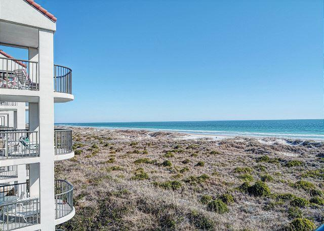 View from the cpvered balcony - DR 2306 -  Oceanfront condo convenient to pool, tennis court and beach access - Wrightsville Beach - rentals
