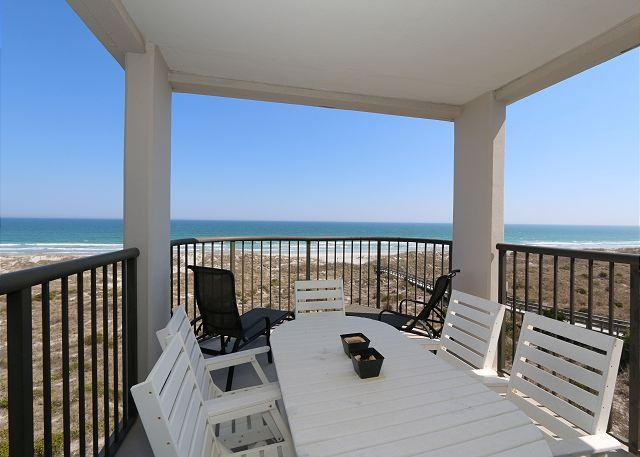 Oceanfront covered balcony - DR 2401- Oceanfront end unit condo on the top floor with panoramic ocean views - Wrightsville Beach - rentals