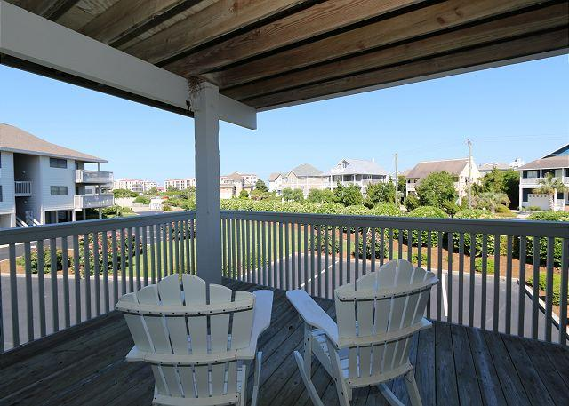 Covered Deck - CB 2313E -  Plan your vacation getaway now at this welcoming sound view condo - Wrightsville Beach - rentals
